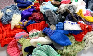 mitts and hats for distribution
