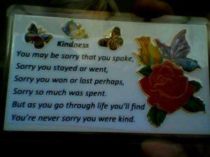 kindness card sample